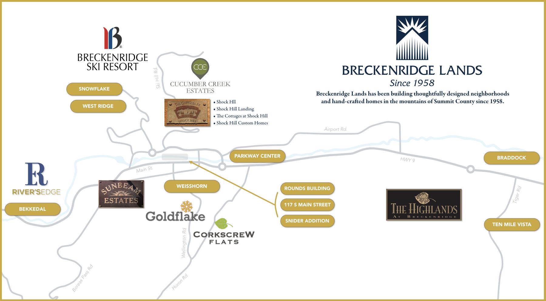 Breckenridge Lands Development Map Colorado